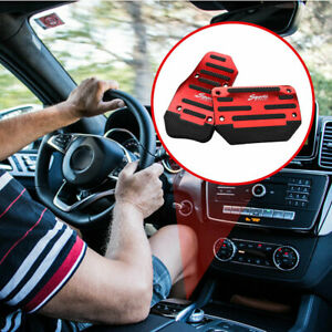 2x Car Automatic Nonslip Accelerator Brake Foot Pedal Plates Cover Set Universal