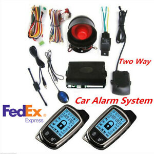 Universal 2 Way Car Alarm Security System W 2pcs Remote Control Kit Anti Theft
