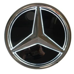 Led Mirror Star Badge Grille Emblem For 2018 up Mercedes Benz E200l E300l E320l