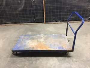 Factory Industrial Metal Cart 5 x3 With Handle Commercial Caster Wheels