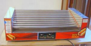Used Gold Medal Hot Diggity 8025sl Hot Dog Grill 120v Sneeze Guard Not Included