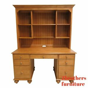 Ethan Allen Computer Desk With Hutch Country Cottage
