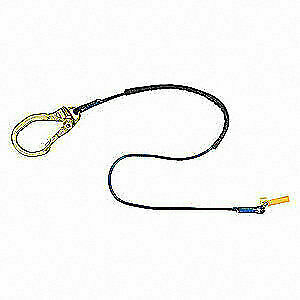 3m Dbi sala Positioning Lanyard 6 Ft L alloy Steel 1234093 Blue