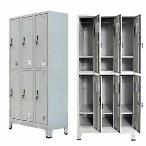 Locker Cabinet With 6 Doors For Office School Gym Dress Changing Room Storage Uk