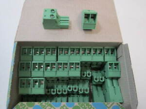 Box Of 50 Phoenix Contact 2 Position Pcb Connector Plugs Pc 16 2 st 10 16 New