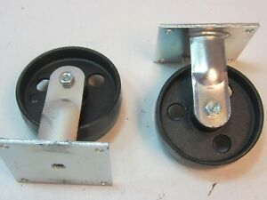 Lot Of 2 E r Wagner 1f8306411000191r Rigid Plate Caster 6 X 2 X 7 1 2 New