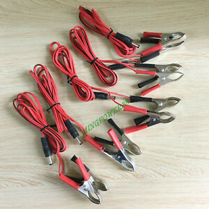 10 30pc Car Start Battery Alligator Clip Clamp Test Clips Dc Connector Wire1 5m