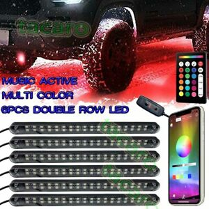 6pcs Led Tubes Rgb Rock Light Neon Off road Underglow Body For Jeep Atv Truck