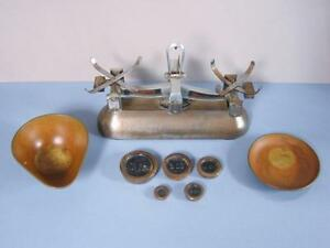 Antique Avery 2 Lb S Balance Scale With Counter Weights