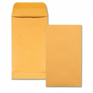 Quality Park Coin small Parts Envelopes 5 5 Brown Kraft 3 125 X 5 5 inches Box O