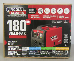 new Lincoln Electric 180hd Amp Weld Pak Mig Wire Feed Welder 180hd K2515 1