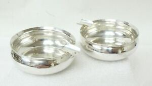 2 Rogers Lunt Bowlen 1169 Sterling Silver Mini Individual Ashtrays