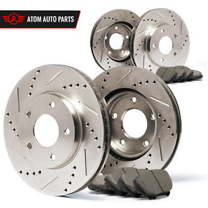2003 2004 2005 2006 Ford Expedition slotted Drilled Rotors Ceramic Pads F r