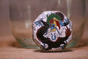 Antique Japanese Cloisonne Bead Dragon Sagemono Super Rare Shape Ojime