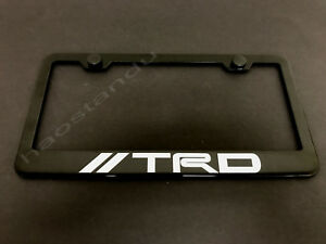 1xtrdstyle Black Stainless Metal License Plate Frame Screw Caps Style A