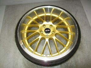 Str Racing Wheels 20x9 Et35 Gold Polished Aluminum Wheel W 225 30 20 Tire