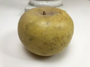 Antique Vintage Italy Alabaster Marble Stone Fruit Realistic Small Golden Apple