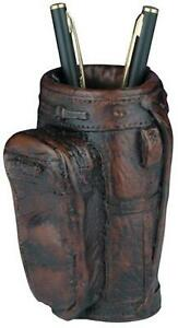 Pencil Holder Golf Traditional Antique Bag Small Resin New Hand cast Hand