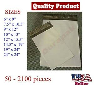 Self Sealing Poly Mailer Shipping Envelope Plastic Bags Postal Pouch 50 Pcs Up