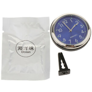 Round Shape Mini Car Digital Clock Auto Watch Automotive Clock In Car Blue