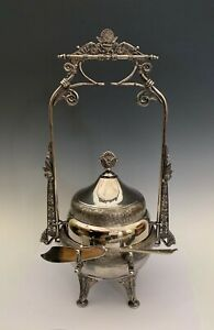 Antique Silverplate Aesthetic Movement Victorian Covered Butter Dish St Louis