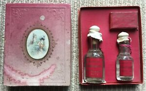Antique Victorian Ed Belezaire Boxed Perfume Set Bottles Sachet Paris Wow