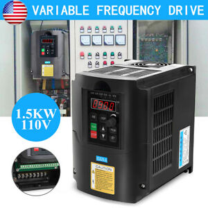 1 5kw 110v Variable Frequency Drive Inverter Vfd Single To 3 Phase Usa