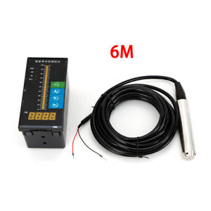 6m Submersible Water Level Transmitter Transducer W light Column Display Control