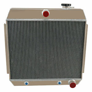 4row Aluminum Radiator For 1955 1957 56 Chevy Bel Air Or Nomad Cars V8 Engines