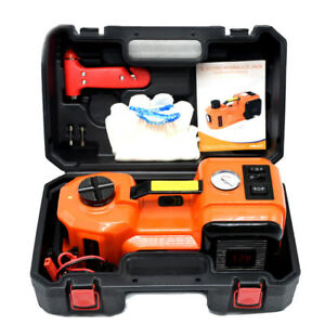 New 12v Dc 5t 3 In 1 Electric Hydraulic Floor Jack Tire Inflator Pump Repair Kit