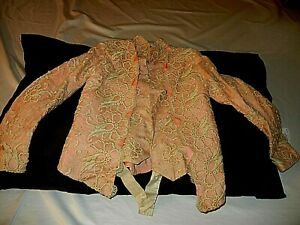Silk Victorian Girls Hand Done Thick Embroidered Lace Blouse 1870s Or Large Doll
