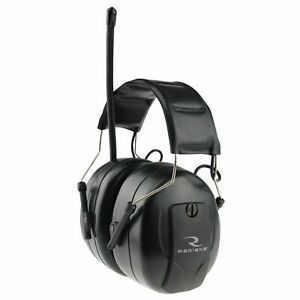 Radians Am fm Digital Radio Earmuffs Black Amfmd1c