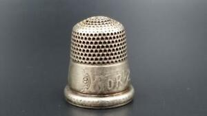Antique Simons Sterling Silver Thimble 1892 World Columbian Exposition