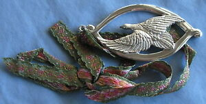 Wallace Sterling Silver 1974 Medallion Christmas Ornament Dove 1 1 Oz