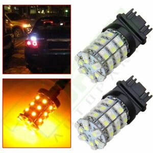 3157 60smd Dual Color Hid Turn White Amber Signal Led Light 12v Resistors 2x
