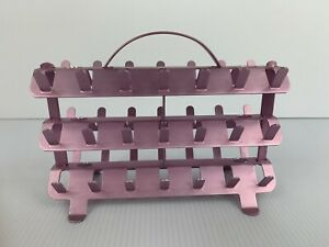 Pink Aluminum Sewing Thread Spool Holder Rack 42 Zierold Mfg Calif Mcm 1950s