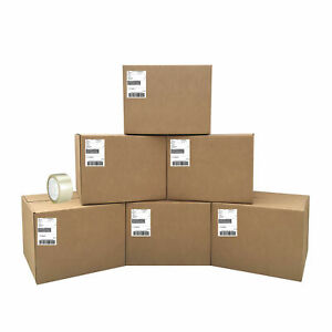 Uboxes All In Moving Kit 6 Boxes Shipping Labels Tape