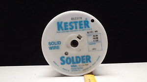 Kester 20 Pound Roll Of Solder Wire Type Sn10 pb88 ag2 dia 063 Part qqs571e Ws