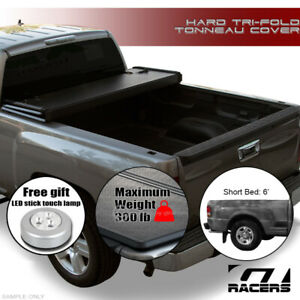 For 1993 2008 Ranger Flareside Splash 6 Feet Bed Tri Fold Hard Tonneau Cover Jr