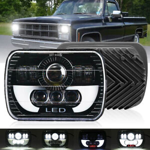 H6054 7x6 Led Headlight Hi lo Beam Halo Drl For Express Savana 1500 2500 3500
