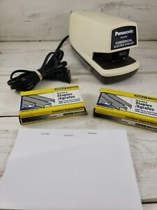 Panasonic Commercial Electric Stapler As 300nn Japan Tested 2 Boxes Staples