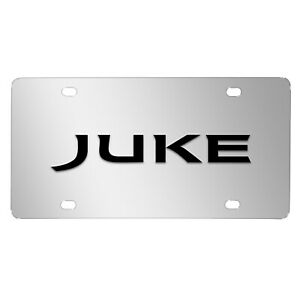 Nissan Juke 3d Black Logo Mirror Chrome Stainless Steel License Plate
