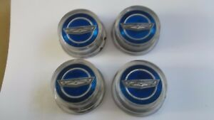 1965 1966 Ford Mustang Galaxy Wire Spoke Hub Cap Center Caps 4 Pcs