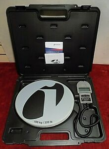 Inficon Wey tek 220 Lb Refrigerant Charging Scale With Case