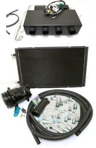 Universal Underdash Air Conditioning Heat Cool Evaporator Ac Kit Hoses Fittings