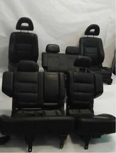 Full Set Of Leather Bucket Seats Electric Oem 2001 01 Mitsubishi Montero R257458