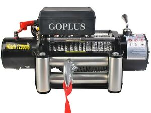 Goplus Classic 12000 Lbs 12 V Electric Recovery Winch New