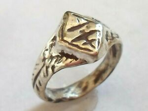 Birthday Gift Detector Find Polished 1300 1500 A D Medieval Silver Cross Ring