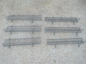 6 Pc Metal Pegboard Wire Shelves Shelf 23 X 3 5 Gray In Color Free Shipping