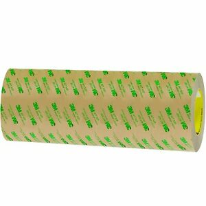 3m Adhesive Transfer Tape 467mp Clear 12 In X 60 Yd 2 Mil 4 Rolls Per Case